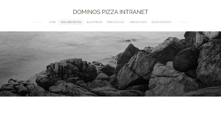 dominoes pizza intranet